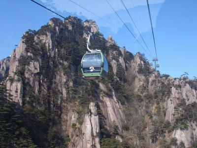 Cable Cars in Mount Huangshan